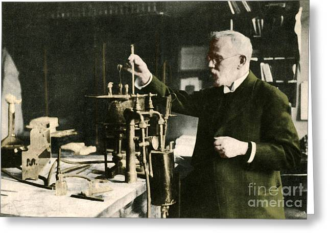 Test Pattern Greeting Cards - Paul Ehrlich, German Immunologist Greeting Card by Photo Researchers