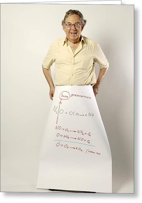 Paul J. Crutzen, Dutch Chemist Greeting Card by Volker Steger