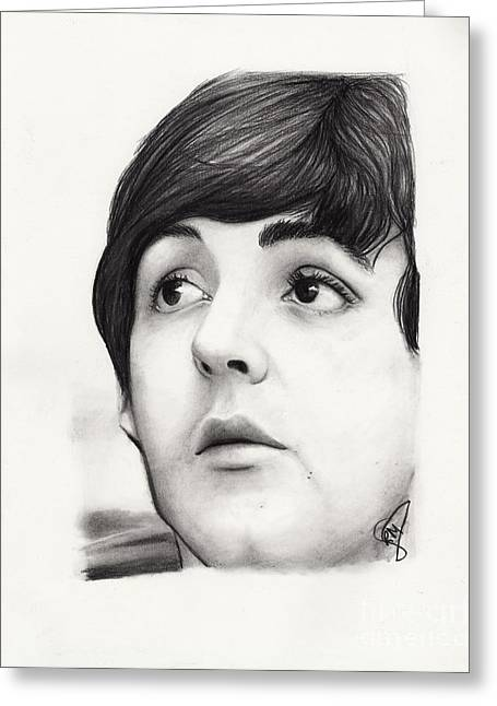 Paul Mccartney Drawings Greeting Cards - Paul McCartney Greeting Card by Rosalinda Markle