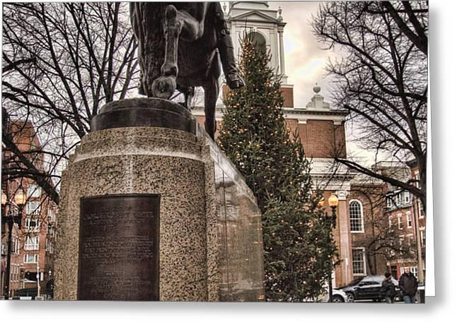 Paul Revere-Statue Greeting Card by Joann Vitali