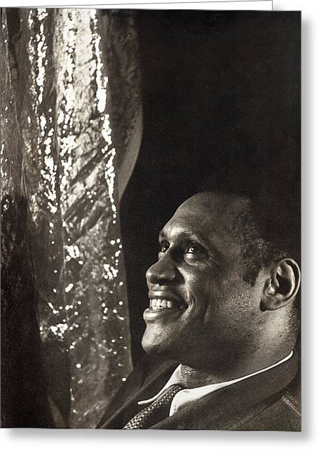 African-americans Greeting Cards - Paul Robeson (1898-1976) Greeting Card by Granger