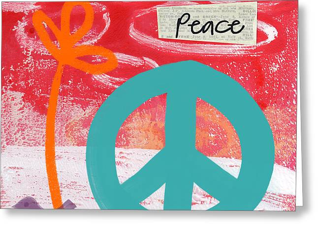 Handwriting Greeting Cards - Peace Greeting Card by Linda Woods