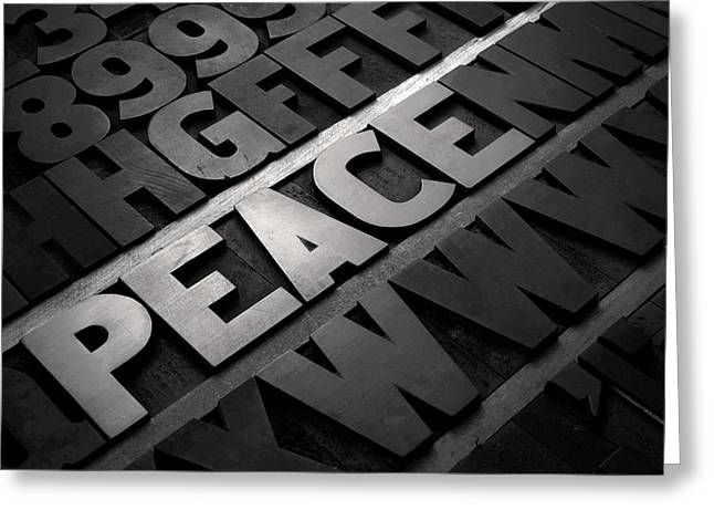 Block Printing Greeting Cards - Peace Greeting Card by Tony Ramos