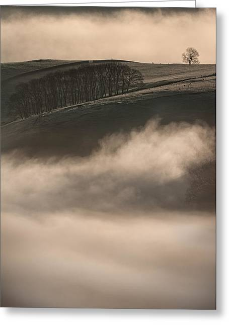 Inversion Greeting Cards - Peak District Landscape Greeting Card by Andy Astbury