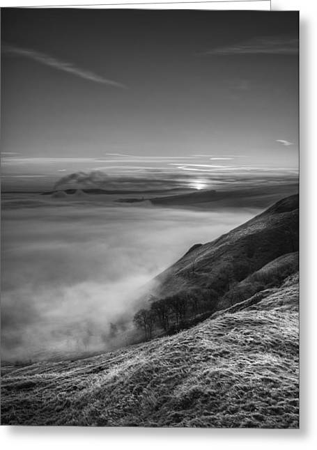 Castleton Greeting Cards - Peak District Sunrise Greeting Card by Andy Astbury