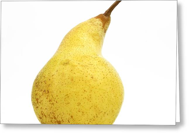 One Pear Greeting Cards - Pear Greeting Card by Bernard Jaubert