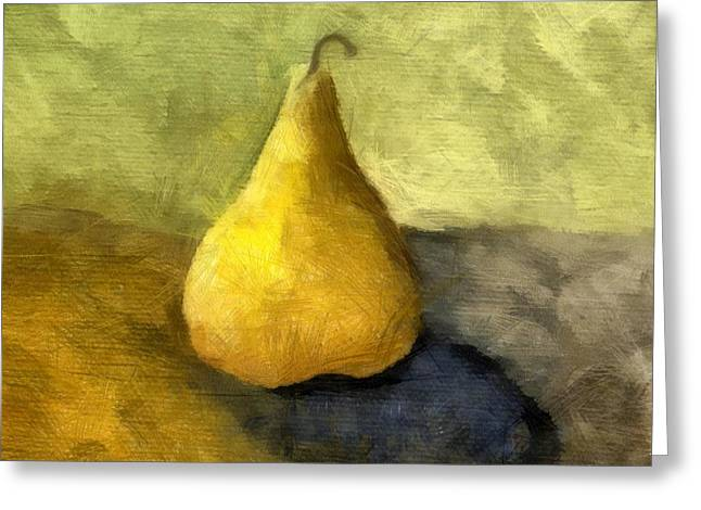 Ingredients Digital Art Greeting Cards - Pear Still Life Greeting Card by Michelle Calkins