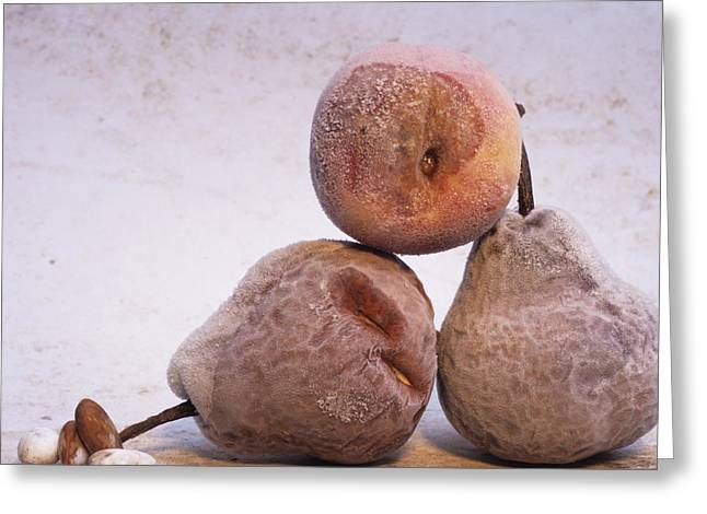 Vitamin Greeting Cards - Pears Greeting Card by Bernard Jaubert