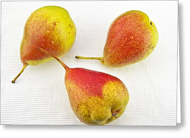 Food And Beverage Greeting Cards - Pears Greeting Card by Joana Kruse