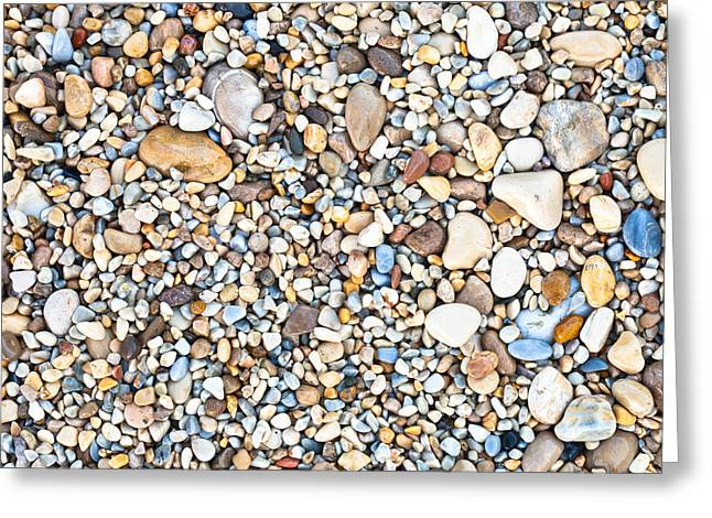 Finishing Greeting Cards - Pebbles Greeting Card by Tom Gowanlock
