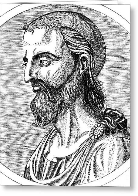 Historical Surgeon Greeting Cards - Pedanius Dioscorides, Greek Physician Greeting Card by Science Source