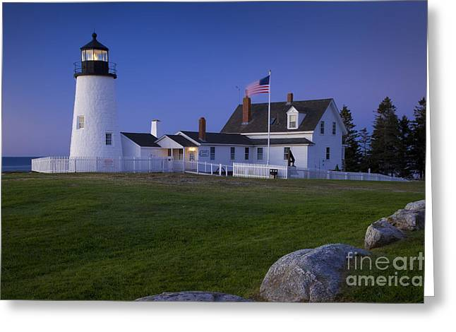 Pemaquid Lighthouse Greeting Cards - Pemaquid Point Lighthouse Greeting Card by Brian Jannsen