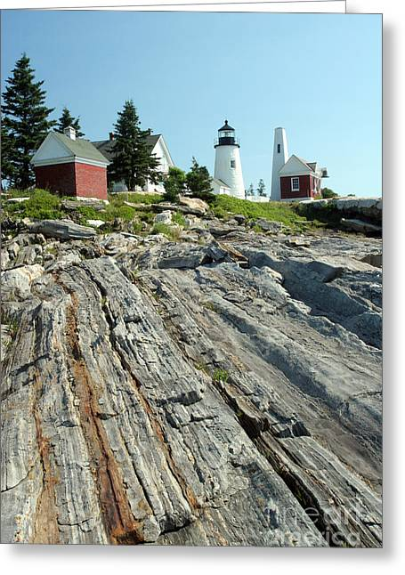 Pemaquid Lighthouse Greeting Cards - Pemaquid Point Lighthouse Greeting Card by Ted Kinsman