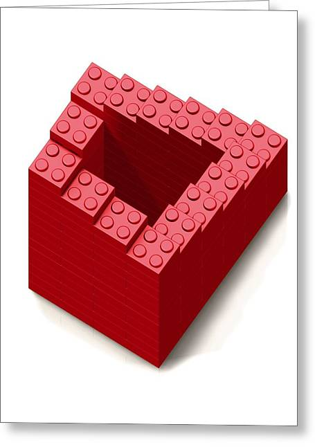 Lego Greeting Cards - Penrose Stairs, Artwork Greeting Card by Claus Lunau