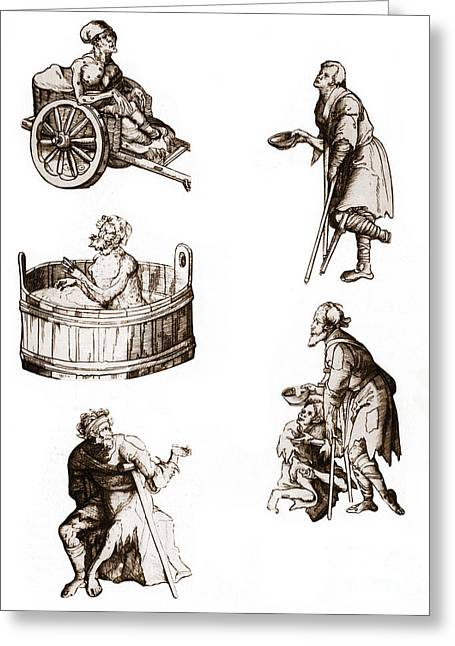 Cripple Greeting Cards - People With Leprosy Greeting Card by Science Source