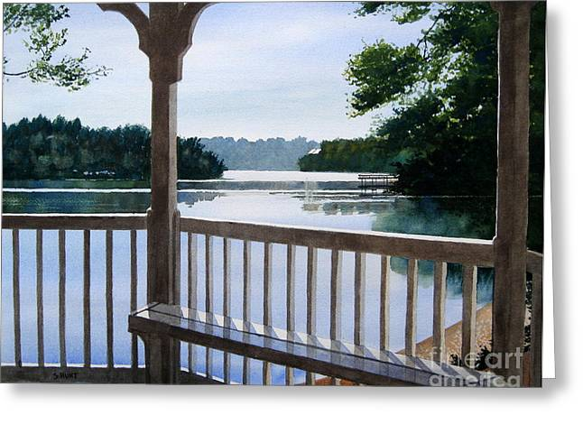 Lake Wylie Greeting Cards - Perfect Summer Morning Greeting Card by Shirley Braithwaite Hunt