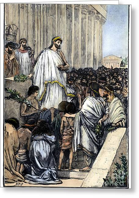 Statesman Greeting Cards - PERICLES (c495-429 B.C.) Greeting Card by Granger