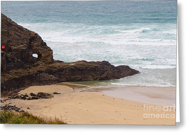 Perranporth In The Winter Greeting Card by Brian Roscorla