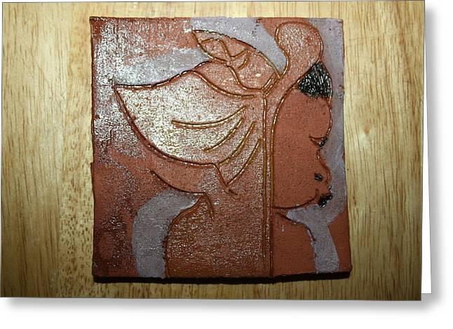 Jesus Ceramics Greeting Cards - Perusal - tile Greeting Card by Gloria Ssali