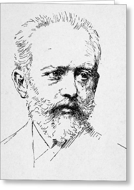Tchaikovsky Greeting Cards - Peter Ilich Tchaikovsky Greeting Card by Granger