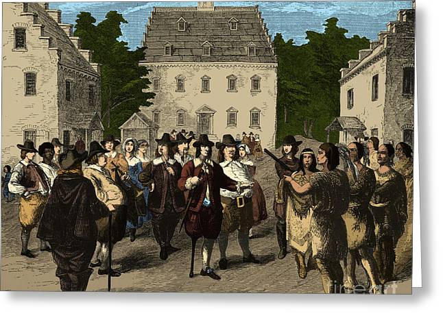 Colonial Man Greeting Cards - Peter Stuyvesant, 17th Century Greeting Card by Photo Researchers