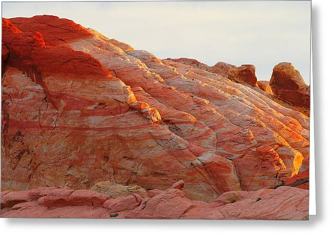 Erosion Greeting Cards - Petrified Fire Greeting Card by Christine Till