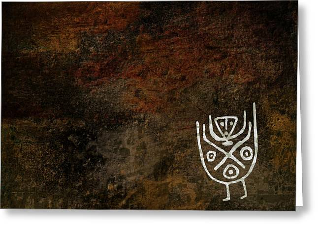 Petroglyph Greeting Cards - Petroglyph 3 Greeting Card by Bibi Romer