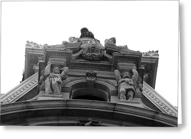 Philadelphia Digital Art Greeting Cards - Philadelphia City Hall Looking Up Greeting Card by Bill Cannon