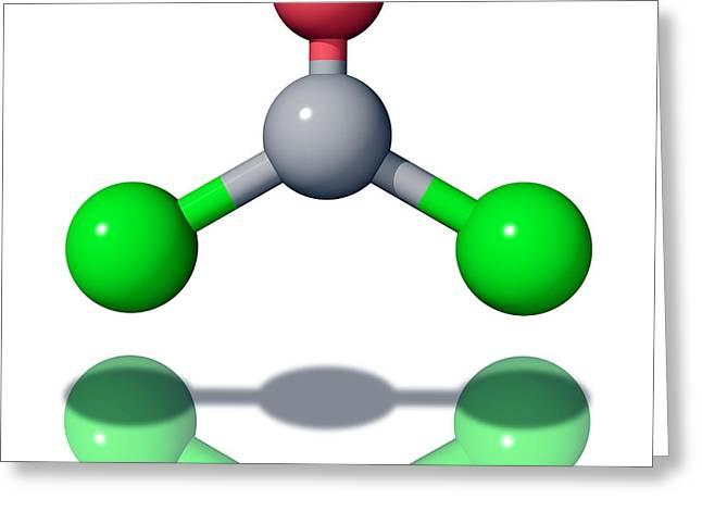 Phosgene Molecule Greeting Card by Laguna Design
