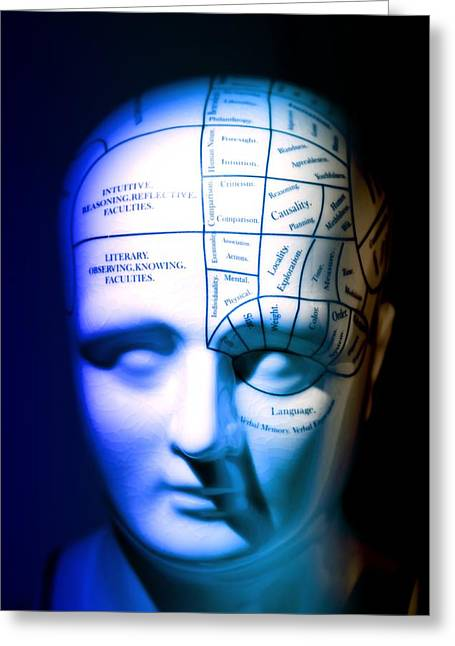 Historical Images Greeting Cards - Phrenology Model Greeting Card by Pasieka