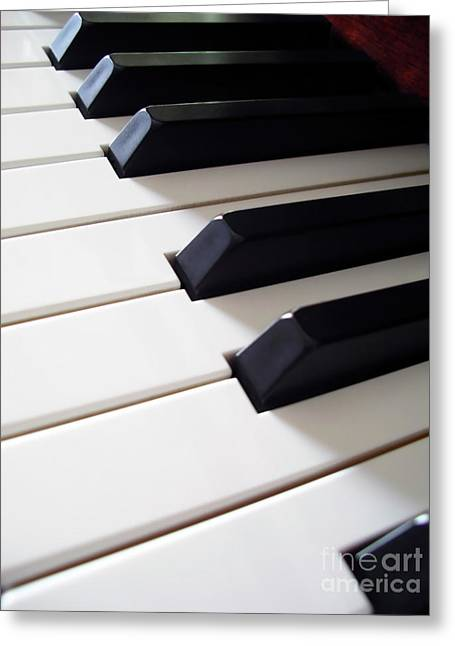 Coordination Greeting Cards - Piano Keys Greeting Card by Carlos Caetano