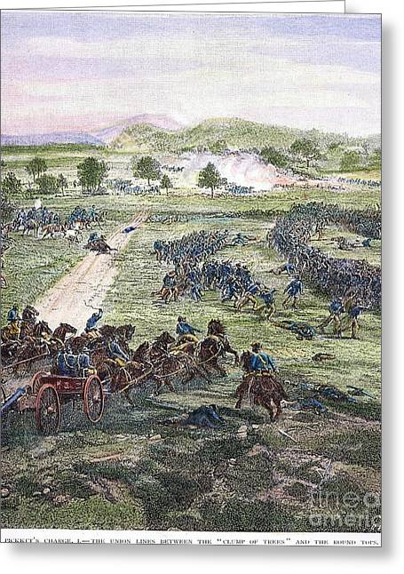Cemetery Ridge Greeting Cards - Picketts Charge, 1863 Greeting Card by Granger