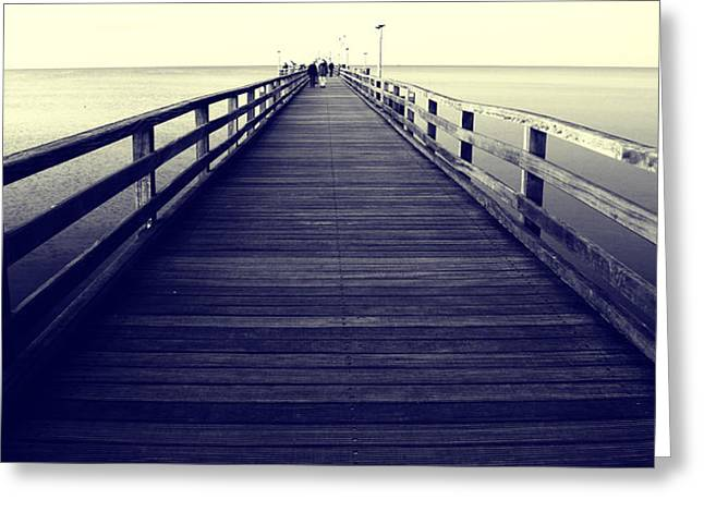 Negro Greeting Cards - Pier Greeting Card by Falko Follert