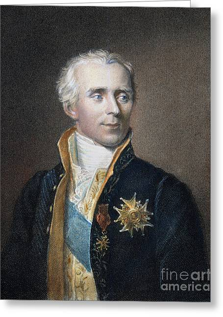 Men Of Honor Photographs Greeting Cards - PIERRE-SIMON de LAPLACE Greeting Card by Granger