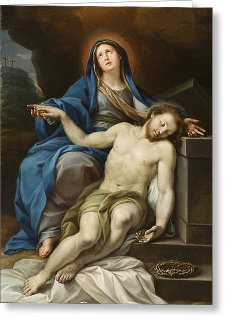 Jesus Thorns Greeting Cards - Pieta Greeting Card by Italian School