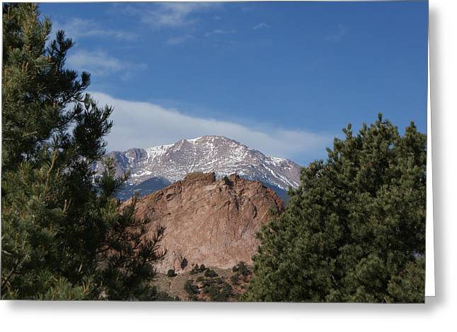 Colorado Artwork Greeting Cards - Pikes Peak Greeting Card by Ernie Echols