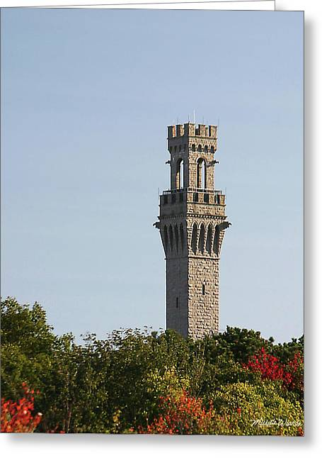 Historic Architecture Greeting Cards - Pilgrim Monument Provincetown Massachusetts Greeting Card by Michelle Wiarda
