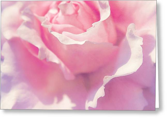 Rose Petals Mixed Media Greeting Cards - Pink Greeting Card by Angela Doelling AD DESIGN Photo and PhotoArt