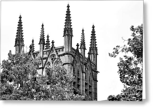 Pinnacles Of St. Mary's Cathedral - Sydney Greeting Card by Kaye Menner