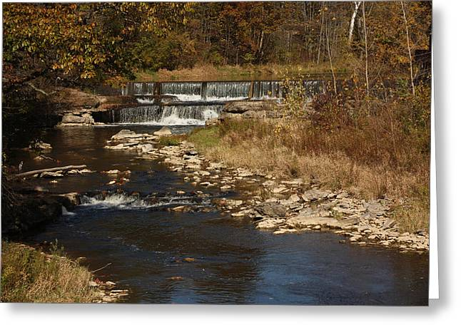 Indiana Landscapes Mixed Media Greeting Cards - Pipe Creek Falls Greeting Card by Bruce McEntyre