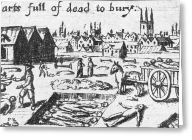 Plague Greeting Cards - Plague, 1665 Greeting Card by Science Source