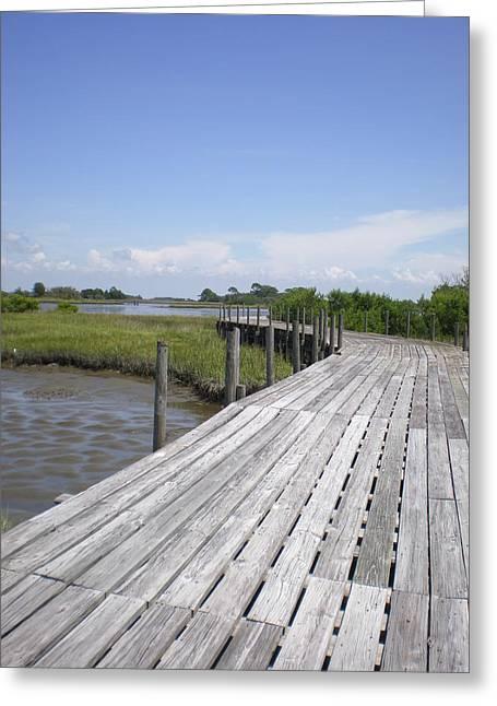 Cedar Key Greeting Cards - Plank Passage Greeting Card by Jeffrey Zipay