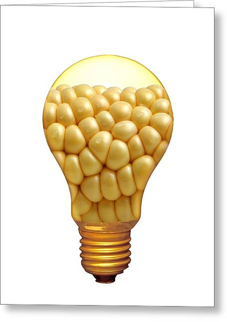 Corn Greeting Cards - Plant Research, Conceptual Artwork Greeting Card by Victor De Schwanberg