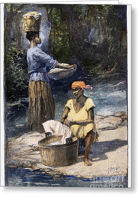 Washtubs Greeting Cards - Plantation Life, 1886 Greeting Card by Granger