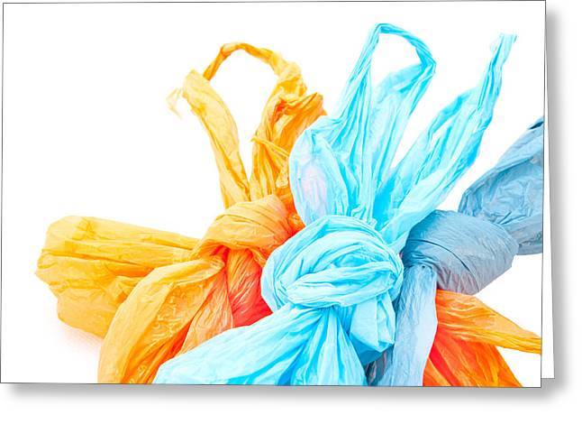 Carrier Greeting Cards - Plastic bags Greeting Card by Tom Gowanlock