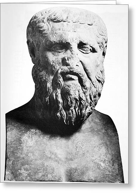 Plato Greeting Cards - Plato, Ancient Greek Philosopher Greeting Card by