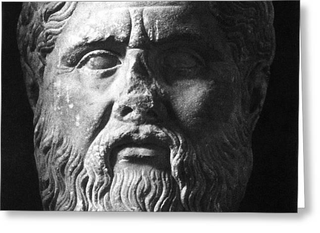 PLATO (c427 B.C.-c347 B.C.) Greeting Card by Granger