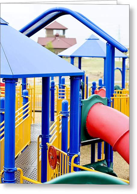 Schoolyard Game Greeting Cards - Playground II  Greeting Card by Malania Hammer