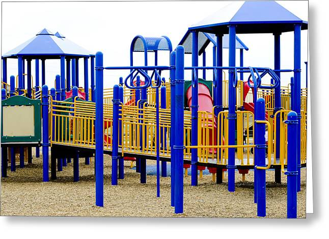 Schoolyard Game Greeting Cards - Playground Greeting Card by Malania Hammer