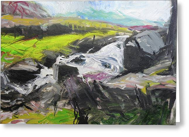 Naturalistic Greeting Cards - Plein air in Snowdonia Greeting Card by Harry Robertson